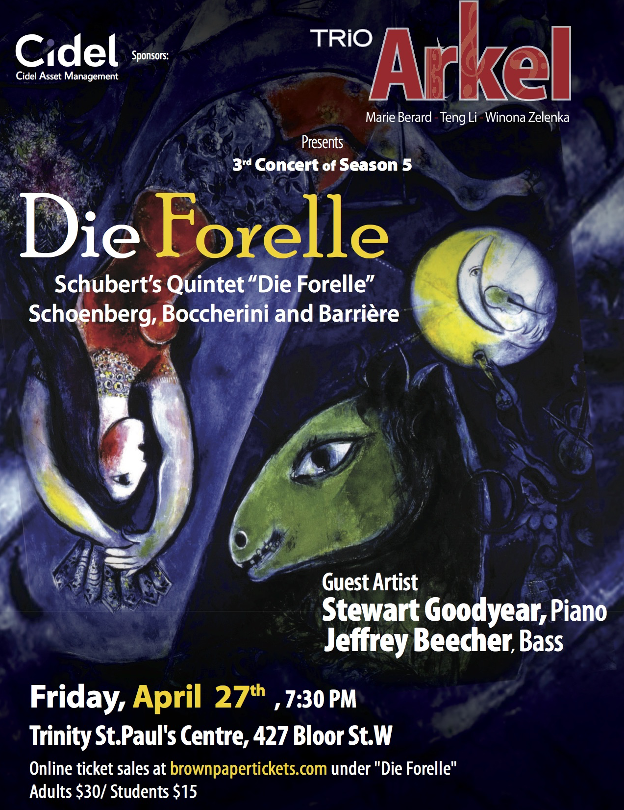 Trio Arkel Presents Die Forelle, April 27 2018