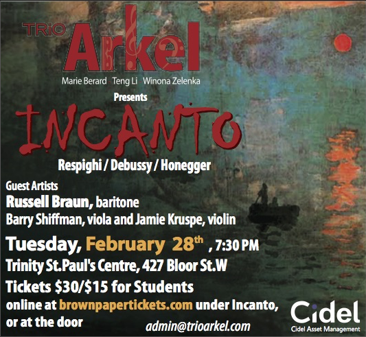 Trio Arkel Presents INCANTO